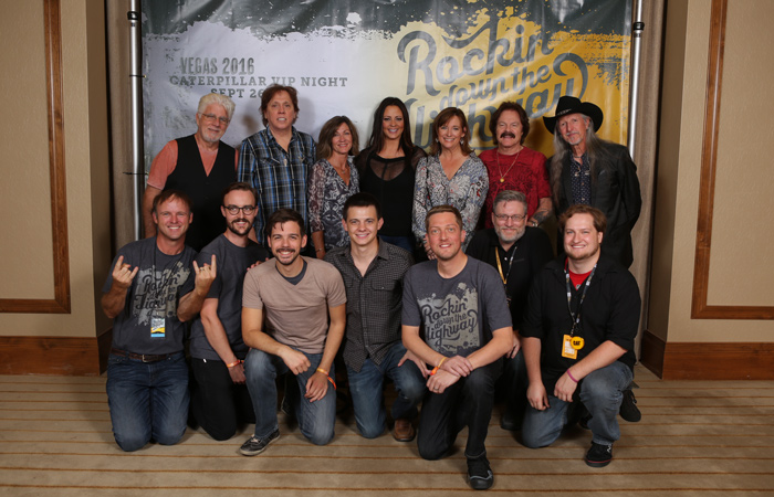 the Converse team with Sara Evans and The Doobie Brothers