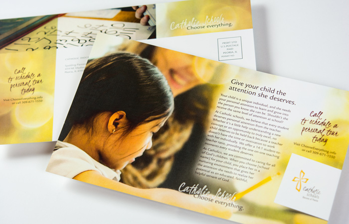 Catholic Schools Choose Everything postcard