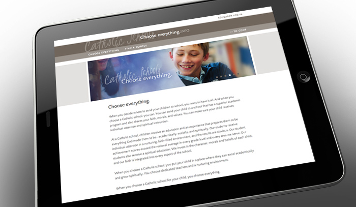 Catholic Schools Choose Everything website